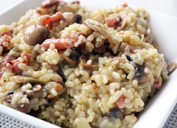 risotto funghi met spekjes