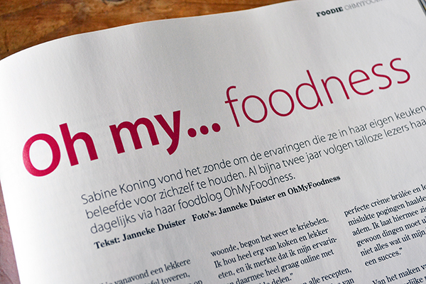 OhMyFoodness in Foodies Magazine