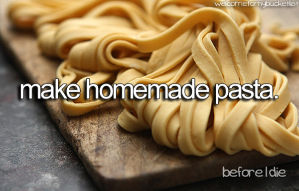 make homemade pasta