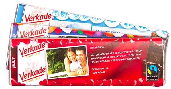Verkade persoonlijke chocoladereep
