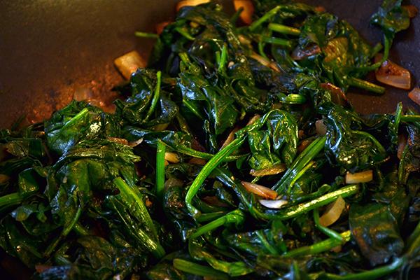 gewokte spinazie