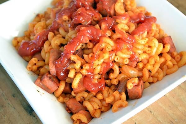 macaroni uit pakjes