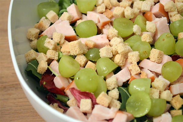 snelle kleurrijke salade