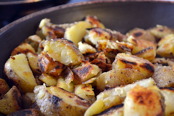 hoe gebakken aardappelen maken