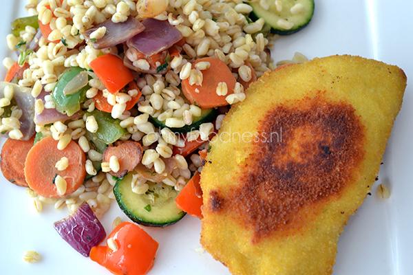 tarly met provencaalse groenten