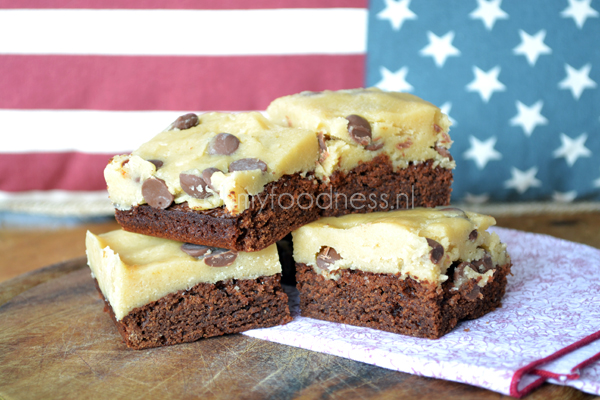 cookiedough brownies