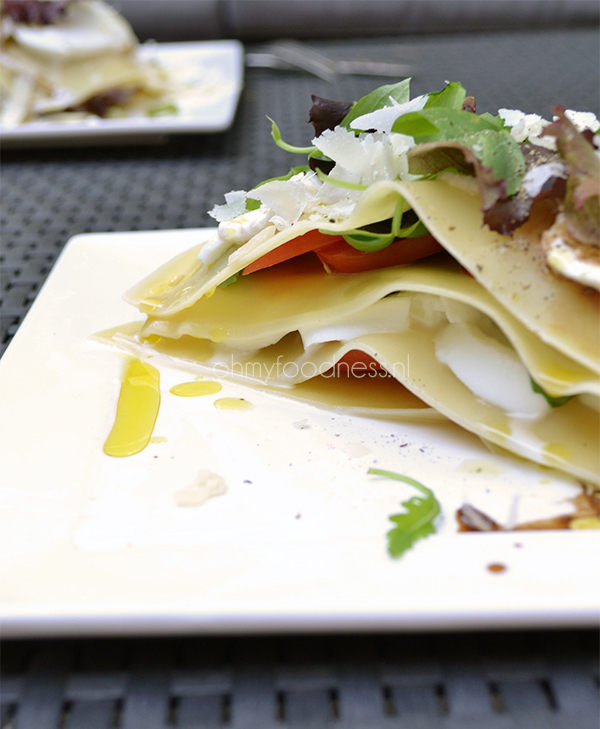 zomerse lasagne caprese