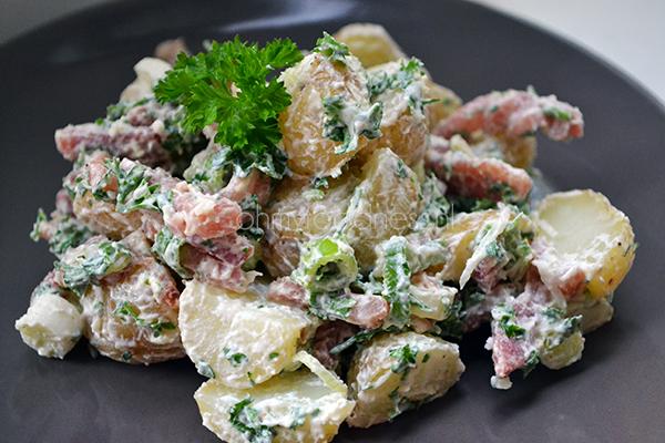 aardappelsalade met spekjes 1