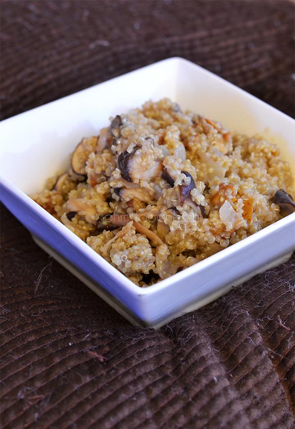 Quinoa risotto al funghi
