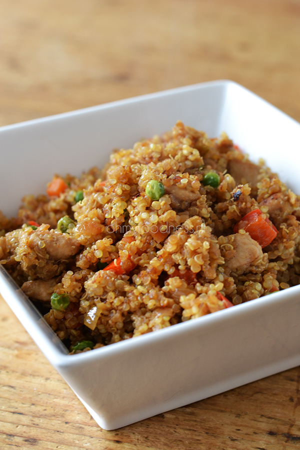 Super Healthy Sunday: Quinoa Fried Rice - OhMyFoodness