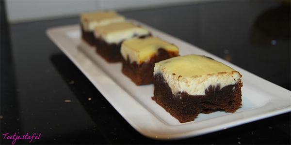 Brownies met ricotta