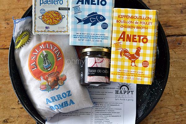 paella maken met happy paella