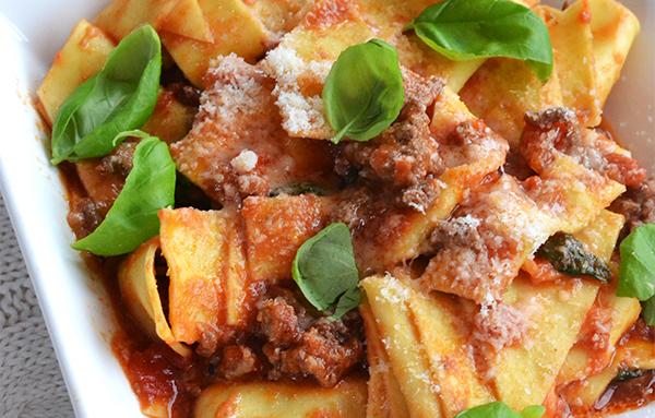 snelle pasta met tomatensaus
