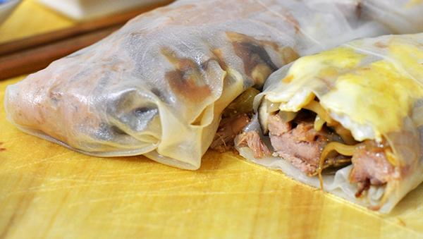verse loempia's met pulled pork
