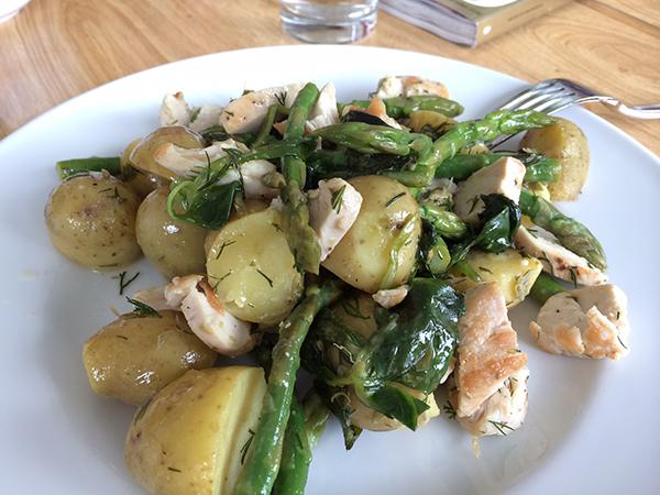 Aardappelsalade met kip