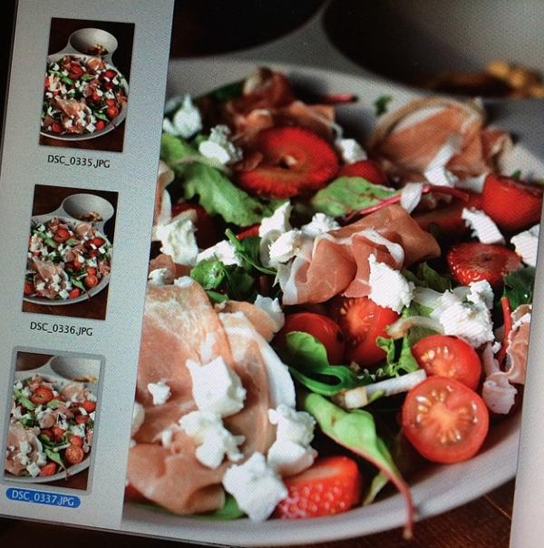 salade met aardbei