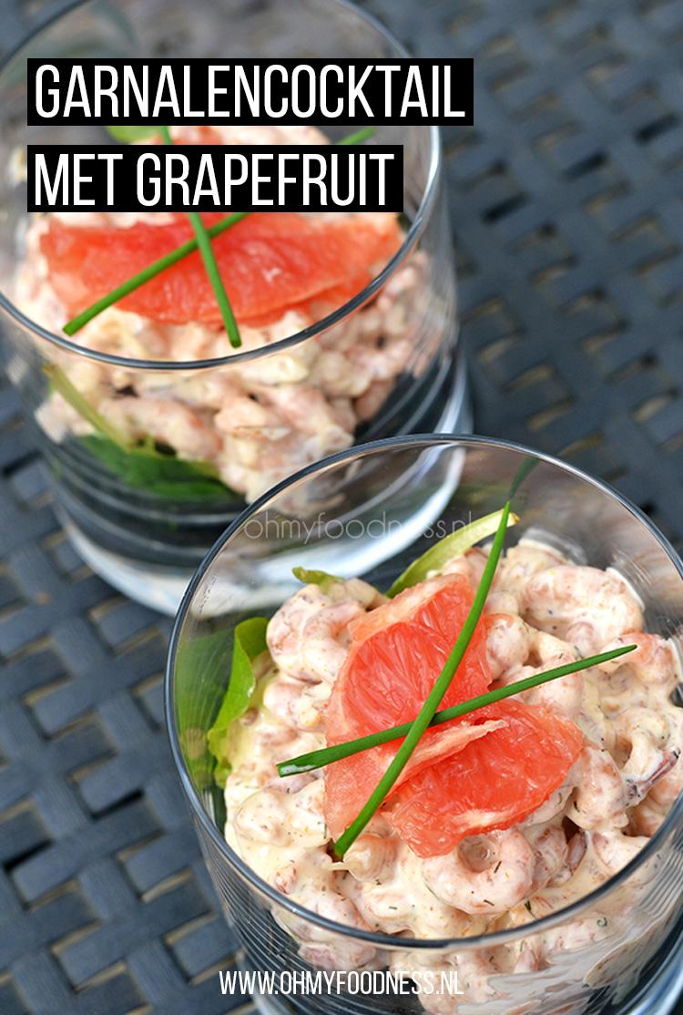 Garnalencocktail met grapefruit