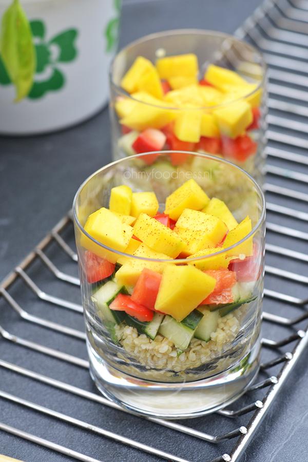 laagjessalade met couscous
