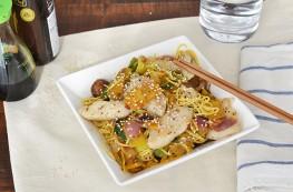 japanse woknoodles met witvis