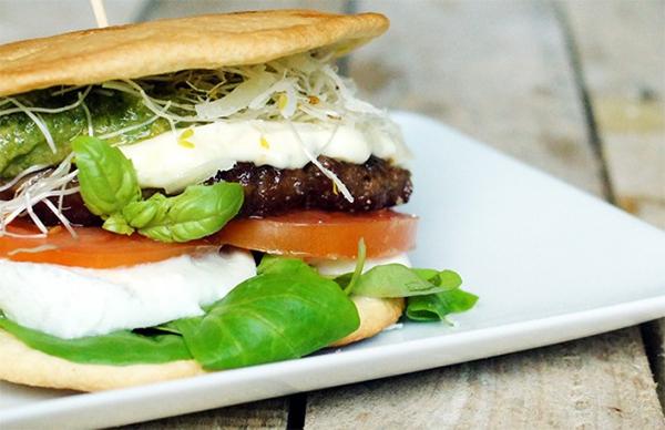 Fris broodje hamburger