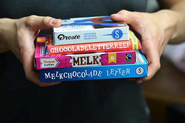 De grote chocoladelettertest