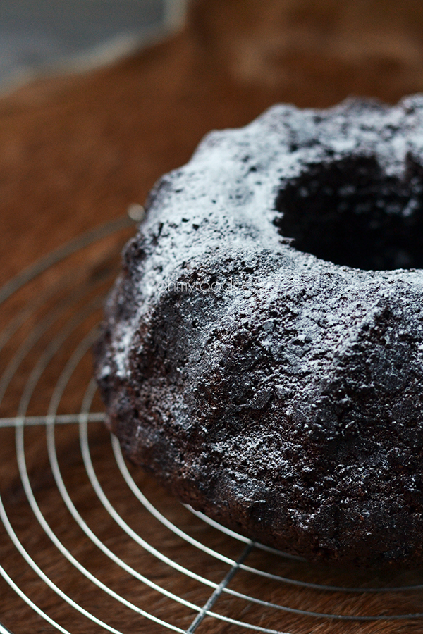 Chocolade-kaneel Bundt Cake