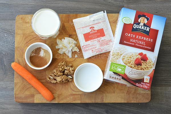 Carrotcake Havermout Ingrediënten