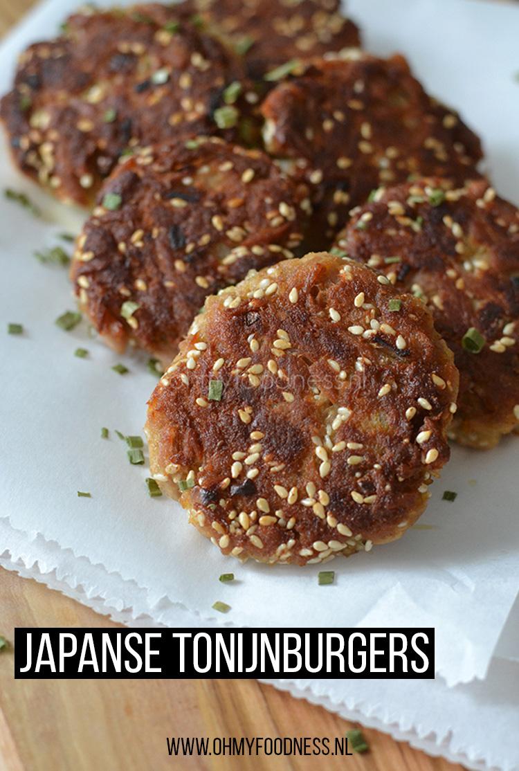 Japanse tonijnburgers