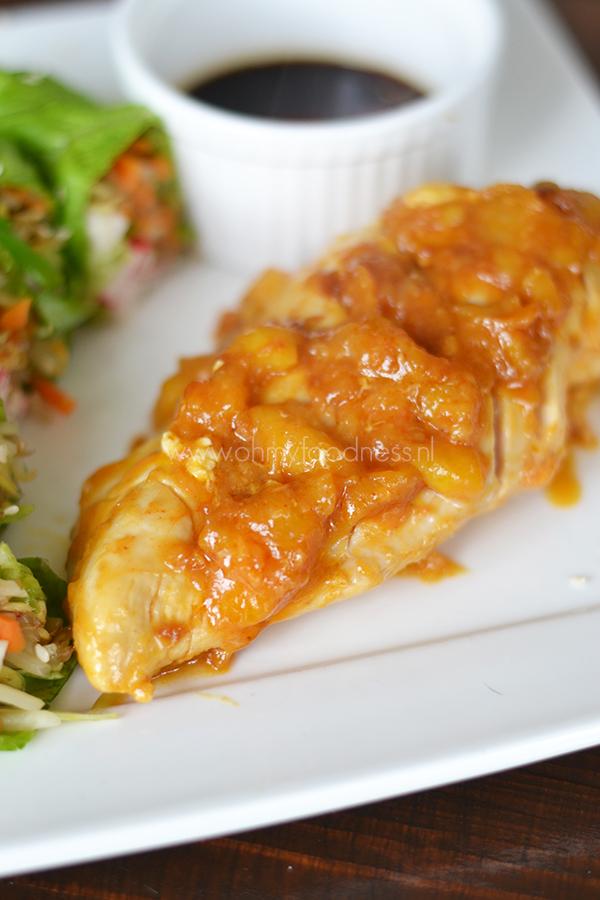 Kip in Mango-Sriracha marinade