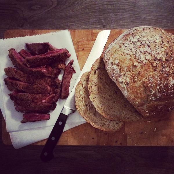 Vlees met brood