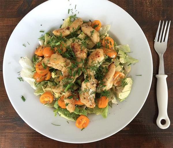 Salade met Panga