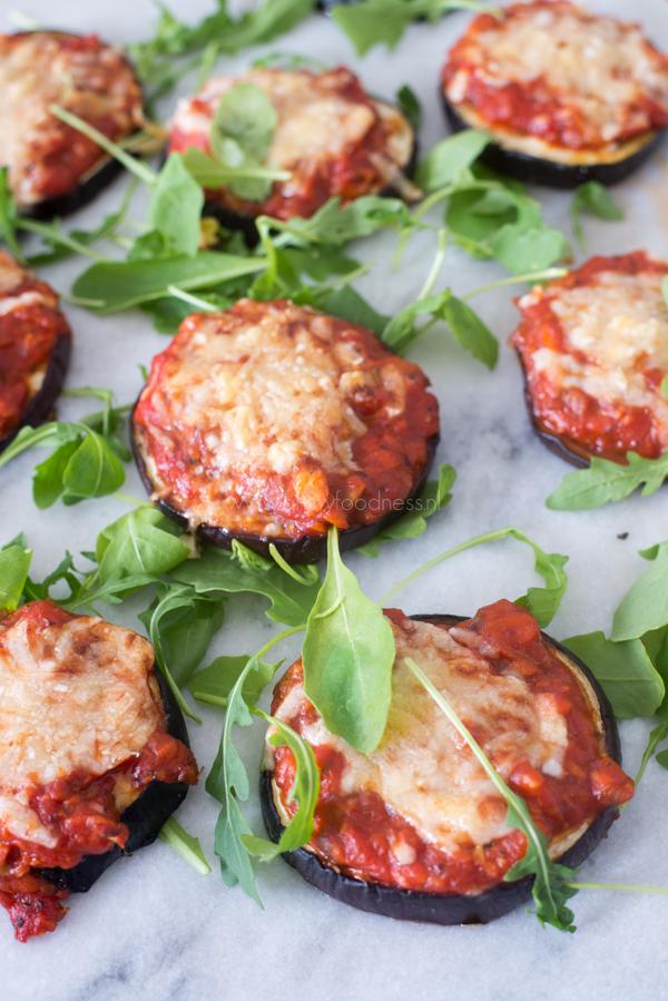 Vegetarische Aubergine Pizzaatjes