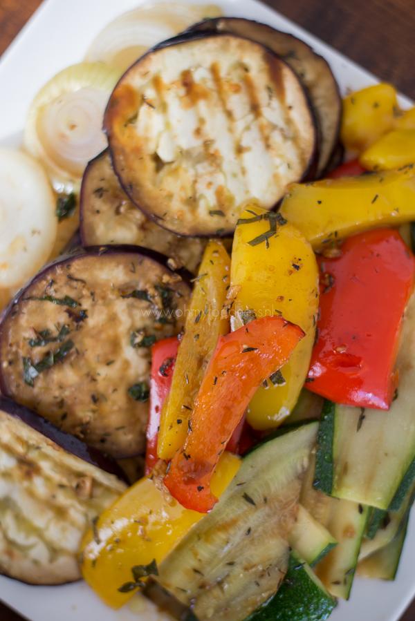 Gegrilde groenten met balsamico