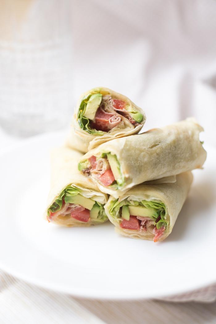BLT wraps met avocado
