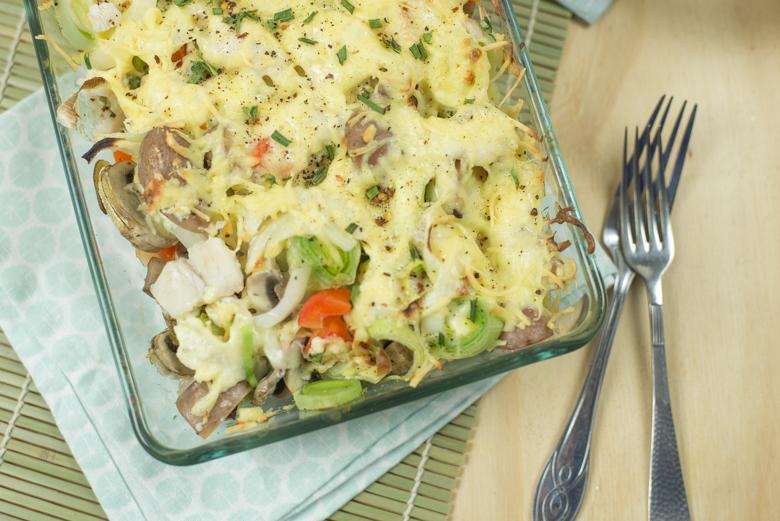 Panga-ovenschotel met aardappeltjes