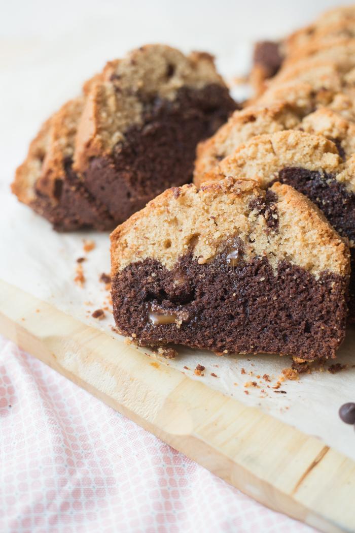 Pindakaas-chocoladecake met Rolo
