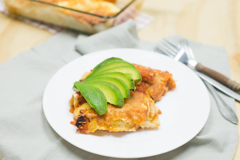Enchiladas met gamba's