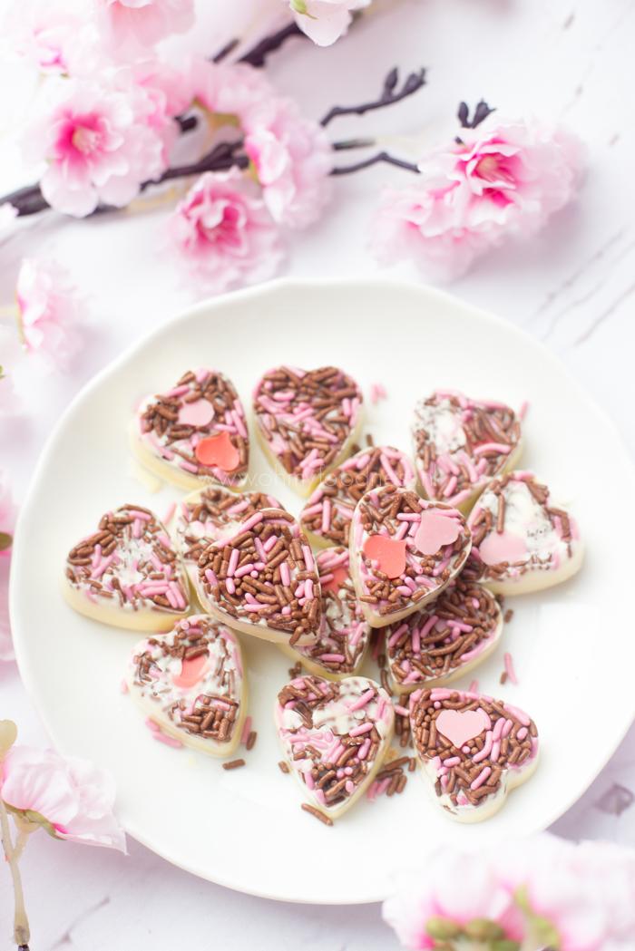 Witte Valentijnschocolaatjes