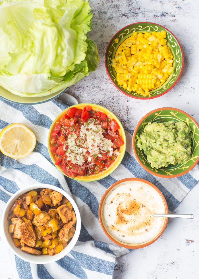 Sla-taco's met kalkoenfilet