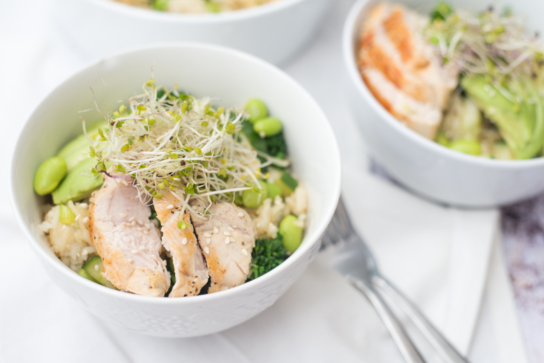 Wasabi-rijstsalade met groene groenten