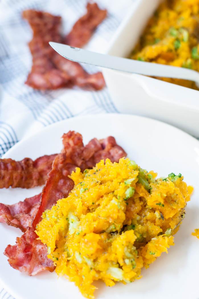 Pompoenstamppotje met bacon