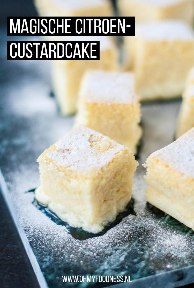 Magische citroen-custardcake