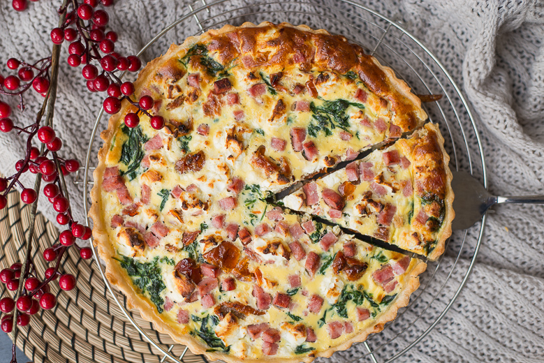 video: quiche met spinazie en zongedroogde tomaat - ohmyfoodness