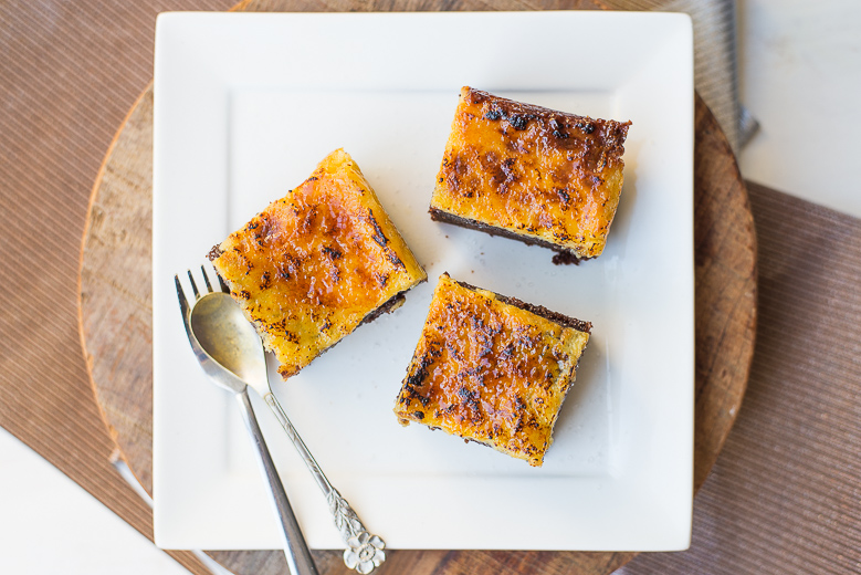 Creme brulee brownies