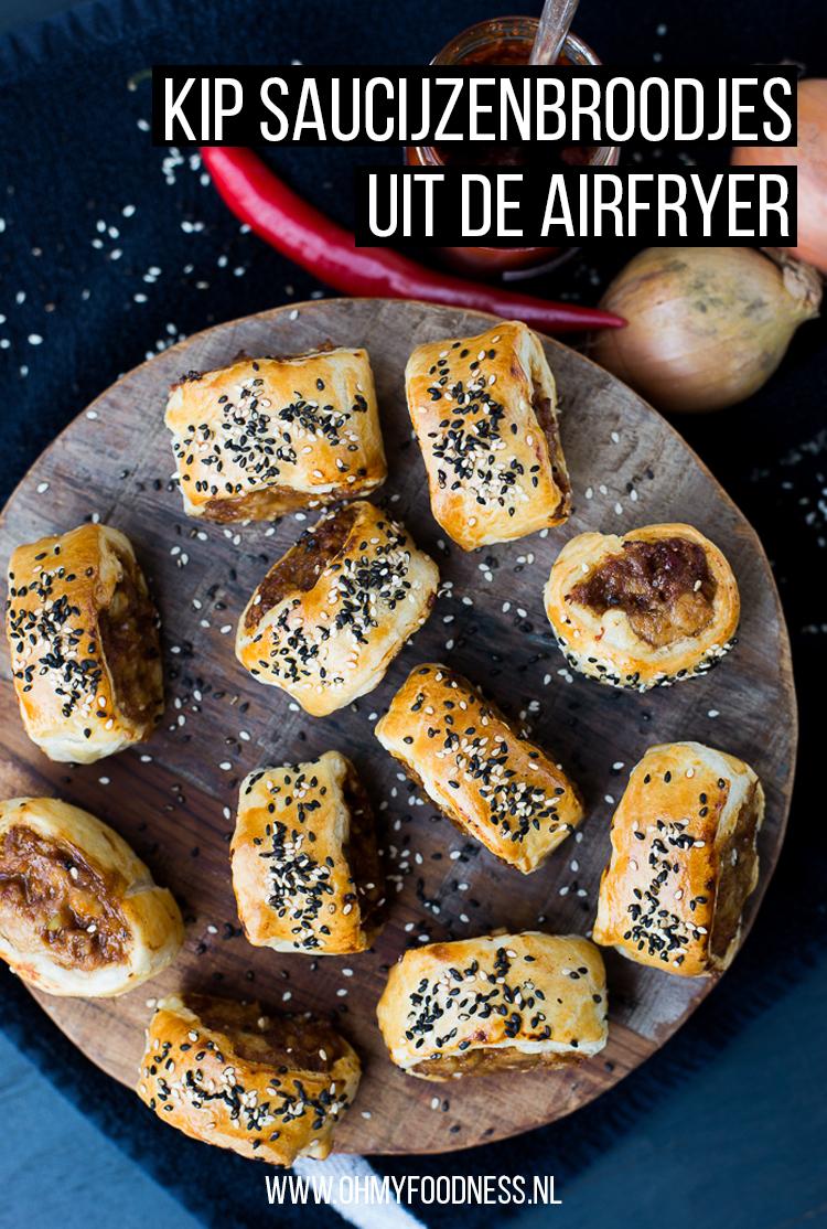 Kip saucijzenbroodjes uit de Airfryer