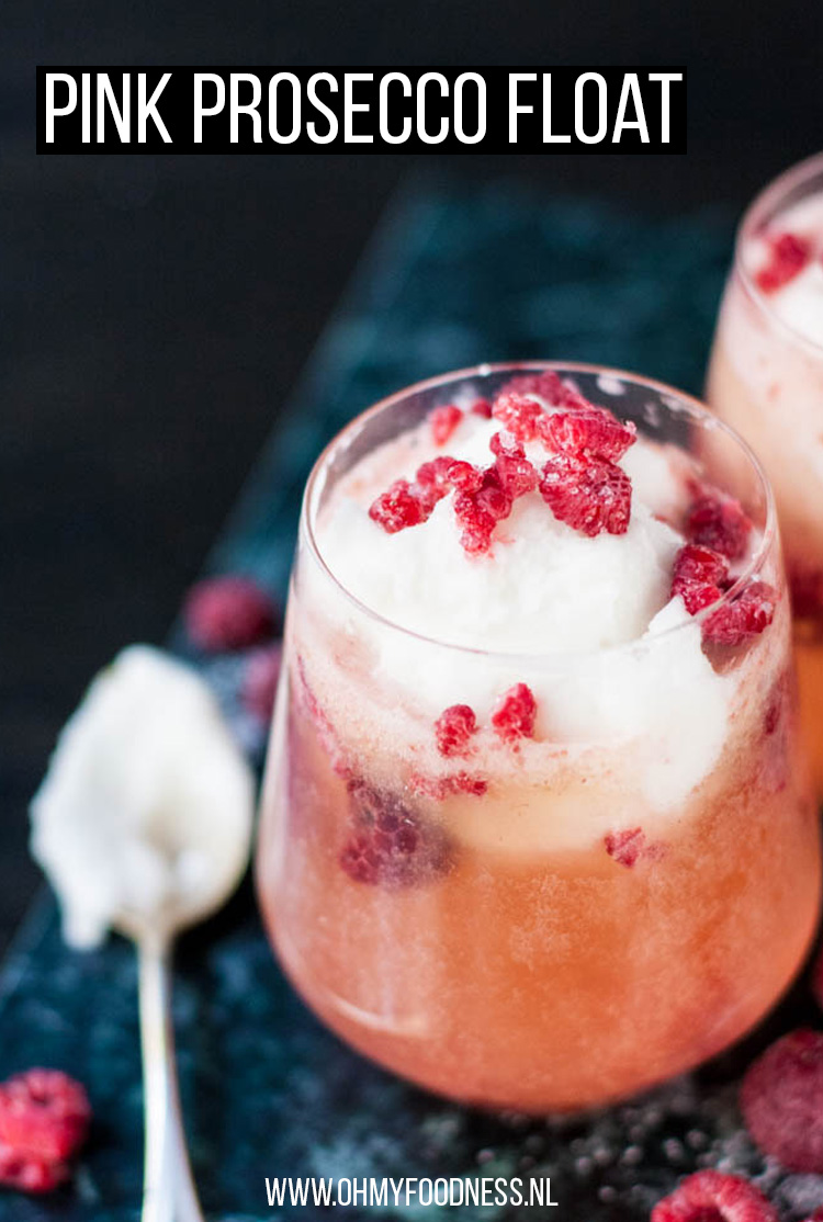 Pink Prosecco Float