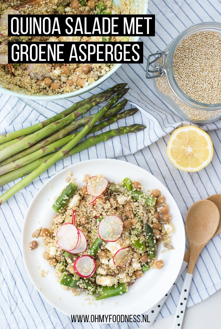 Quinoa salade met groene asperges