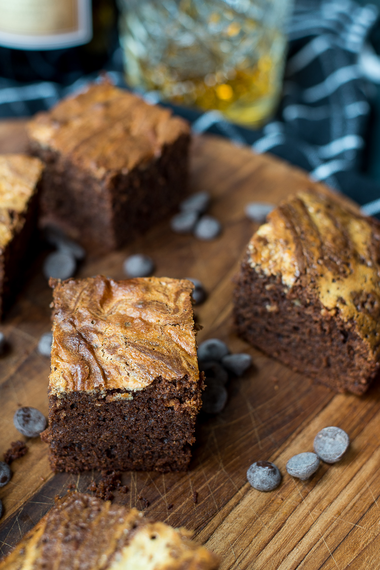 Whiskey cheesecakebrownies