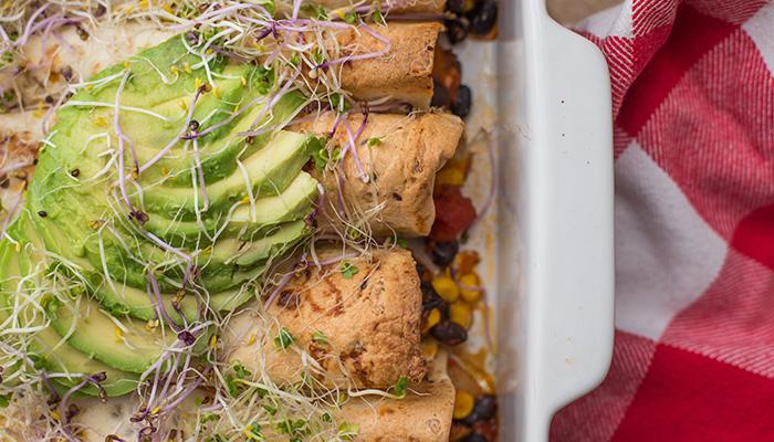 Vegetarische groente-enchiladas
