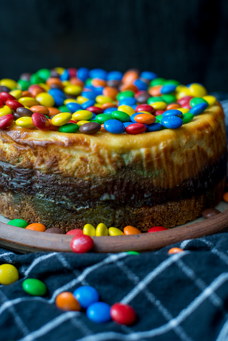 M&M's cheesecake